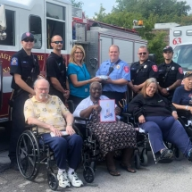 Orchard - 1st Responders with Residents and Staff