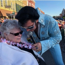 Orchard - Elvis Singing to Resident at Event